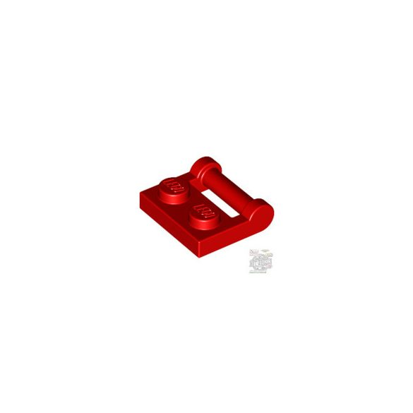 Lego PLATE 1X2 W. STICK 3.18, Bright red