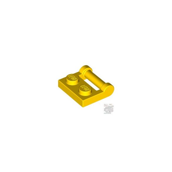 Lego PLATE 1X2 W. STICK 3.18, Bright yellow
