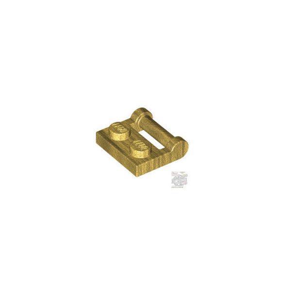 Lego PLATE 1X2 W. STICK 3.18, Dark gold