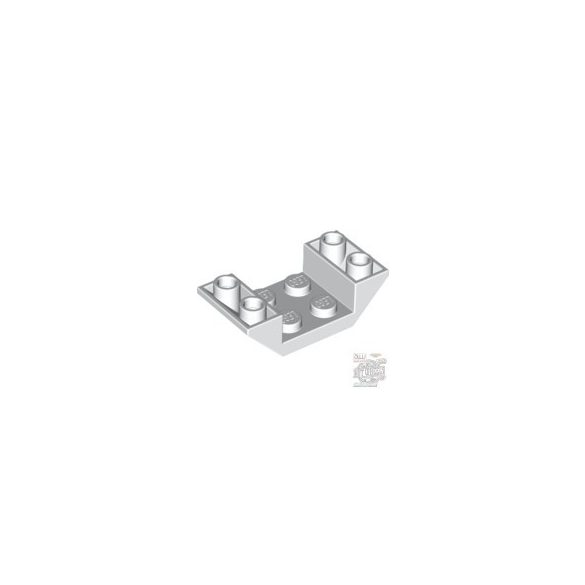 Lego Roof Tile 4X2/45° Inv., White