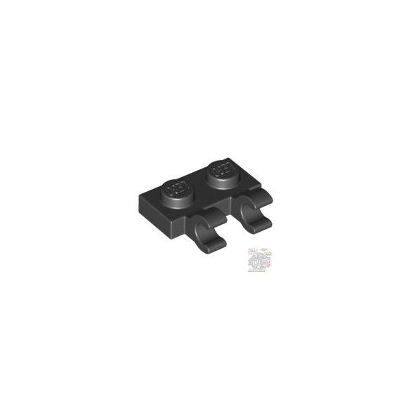 Lego PLATE 1X2 W/HOLDER, VERTICAL, Black