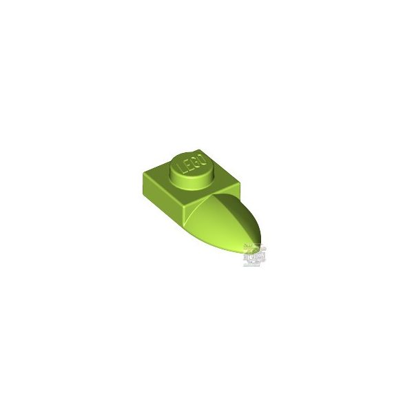 Lego PLATE 1X1 W/TOOTH, Bright yellowish green