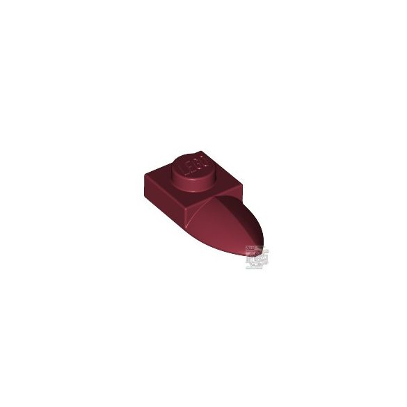 Lego PLATE 1X1 W/TOOTH, Dark red