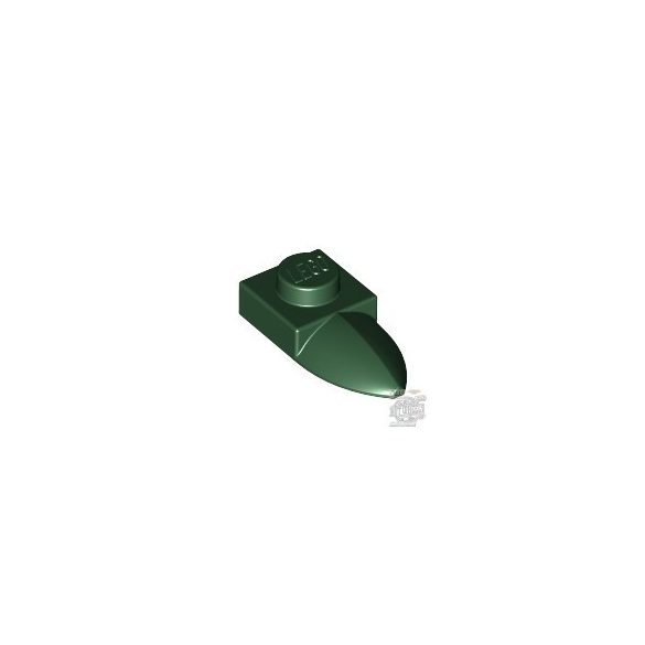 Lego PLATE 1X1 W/TOOTH, Earth green