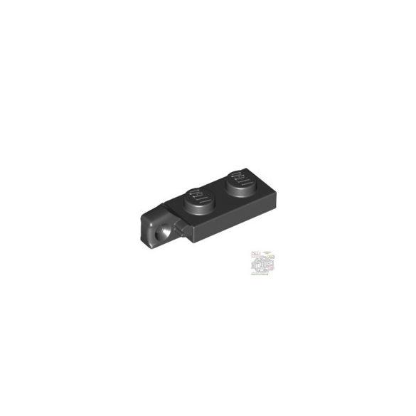 Lego PLATE 1X2 W/STUB VERTICAL/ENDL, Black