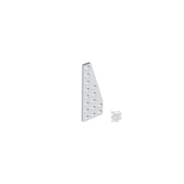 Lego RIGHT PLATE 3X8 W/ANGLE, White