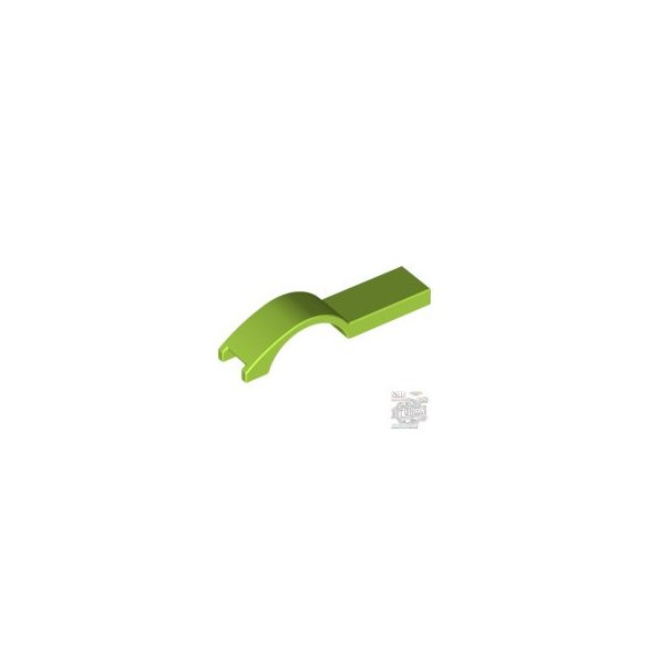 Lego COVER PLATE W. CURVE 1 X 4.5, Bright yellowish green