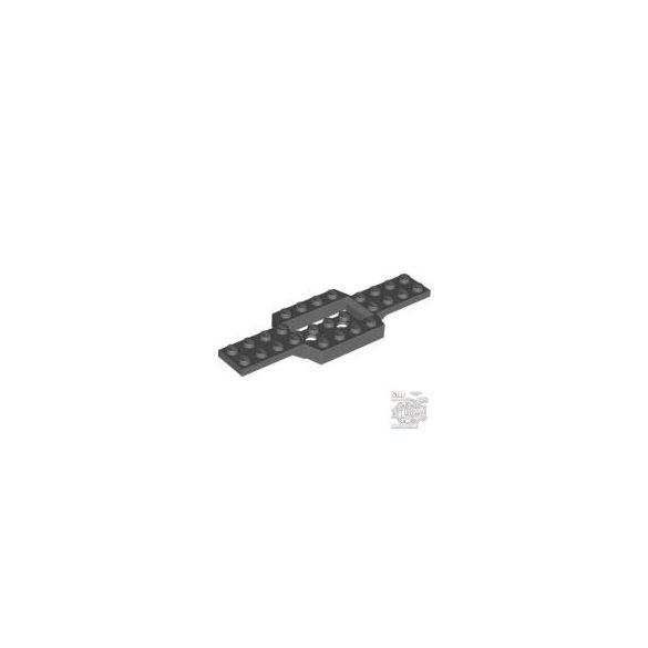 Lego Plate 4X12 W. Bottom 2X4X2/3, Dark grey