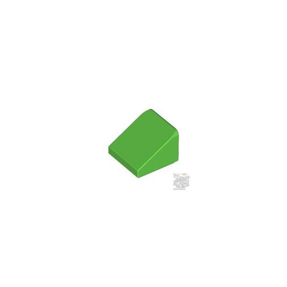 Lego ROOF TILE 1X1X2/3, ABS, Bright green