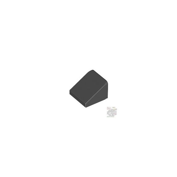 Lego ROOF TILE 1X1X2/3, ABS, Black