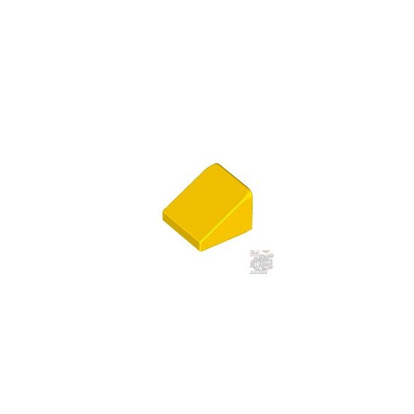 Lego ROOF TILE 1X1X2/3, ABS, Bright yellow
