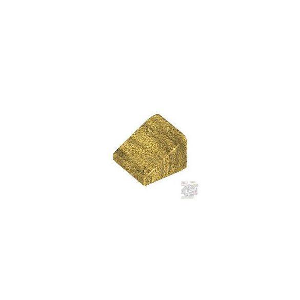 Lego ROOF TILE 1X1X2/3, ABS, Metallic gold