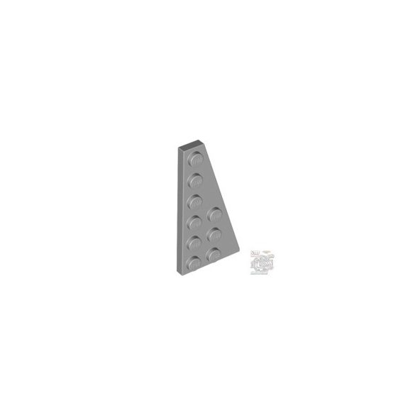 Lego Right Plate 3X6 W. Angle, Light grey
