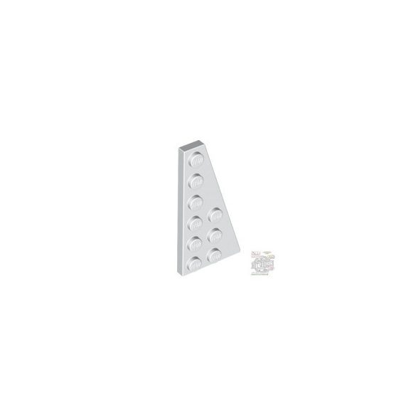 Lego RIGHT PLATE 3X6 W. ANGLE, White
