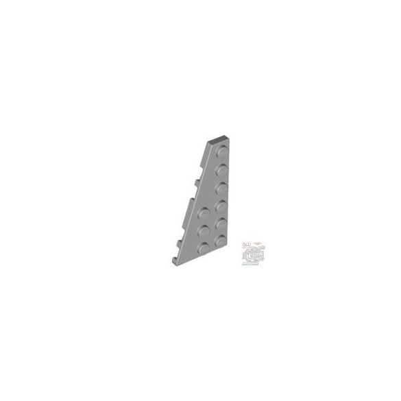 Lego Left Plate 3X6 W. Angle, Light grey