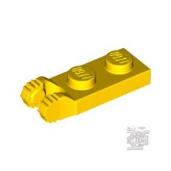 Lego PLATE 1X2 W/FORK/VERTICAL/END, Bright yellow