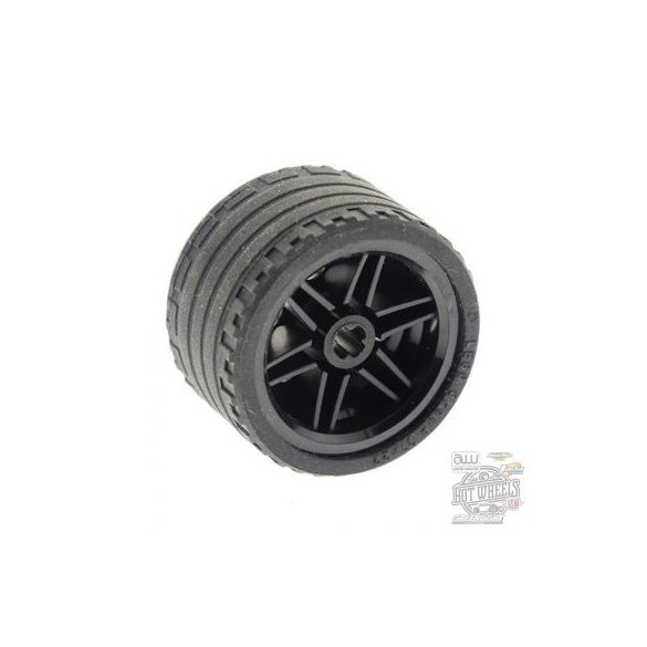 Lego Wheel 30.4mm D. x 20mm with No Pin Holes and Reinforced Rim with Black Tire 37 x 22 ZR (56145 / 55978)