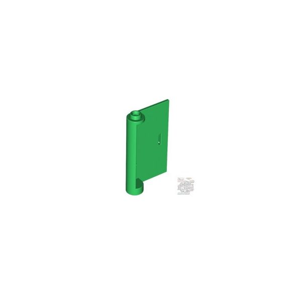 Lego RIGHT DOOR W/KNOB HINGE, Green