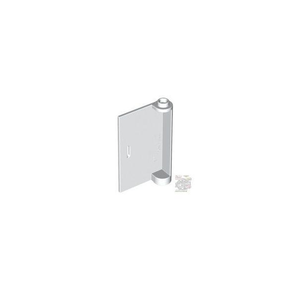 Lego LEFT DOOR W/KNOB HINGE 3x5, White