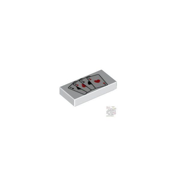 Lego FLAT TILE 1X2 NO.129', White