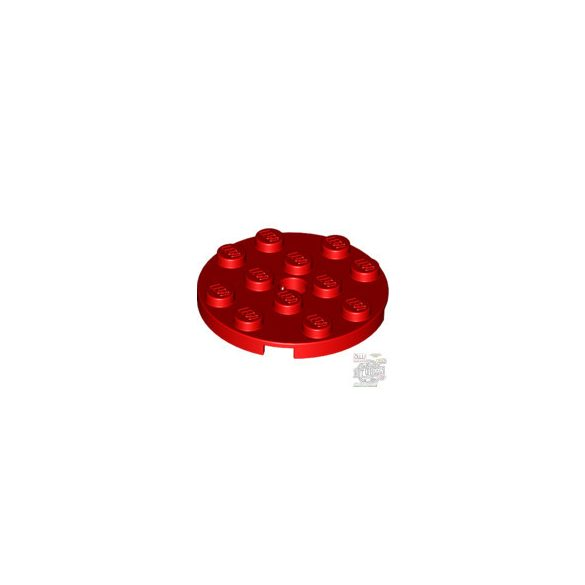 Lego PLATE 4X4 ROUND W. SNAP, Bright red