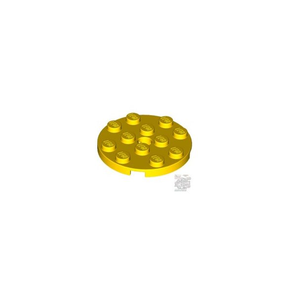 Lego PLATE 4X4 ROUND W. SNAP, Bright yellow