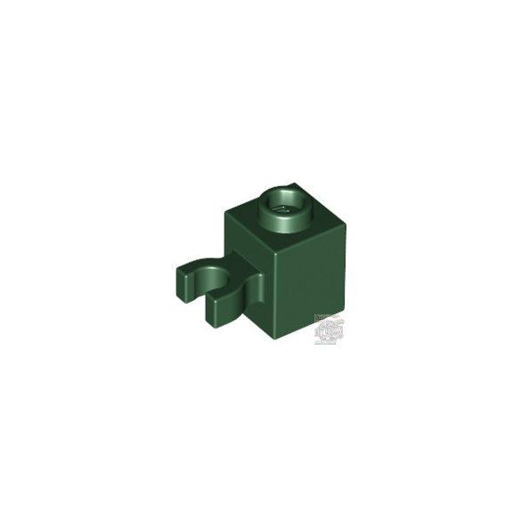 Lego BRICK 1X1 W/HOLDER, H0RIZONTAL, Earth green