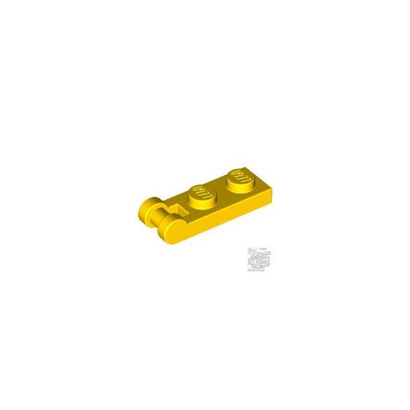 Lego PLATE 1X2 W/SHAFT Ø3.2, Bright yellow