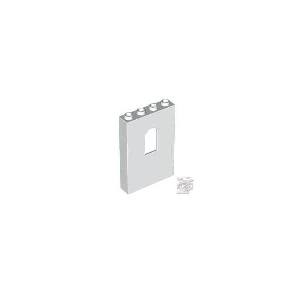 Lego Wall 1X4X5 W-Bowed Slit, White