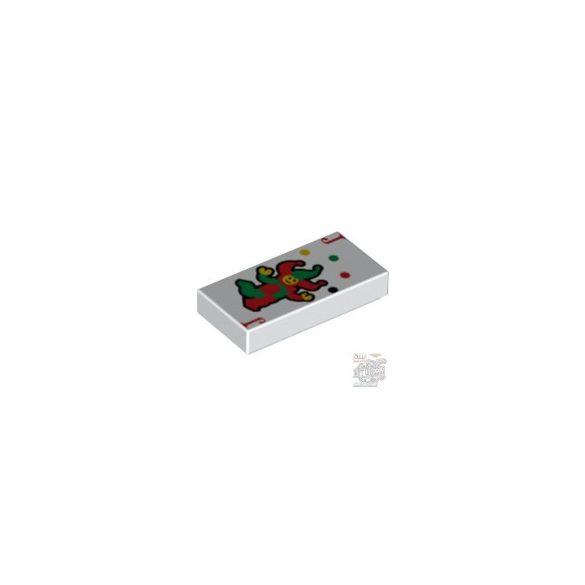 """Lego Flat Tile 1X2 """"No. 12"""", White"""