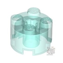 Lego Brick Ø16 W. Cross, Transparent light blue