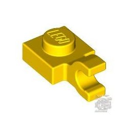 Lego PLATE 1X1 W/HOLDER, Bright yellow