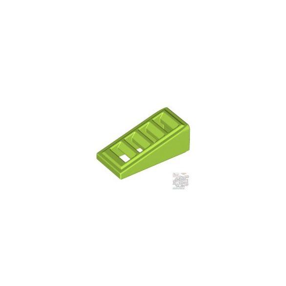 Lego ROOF TILE W. LATTICE 1x2x2/3, Bright yellowish green