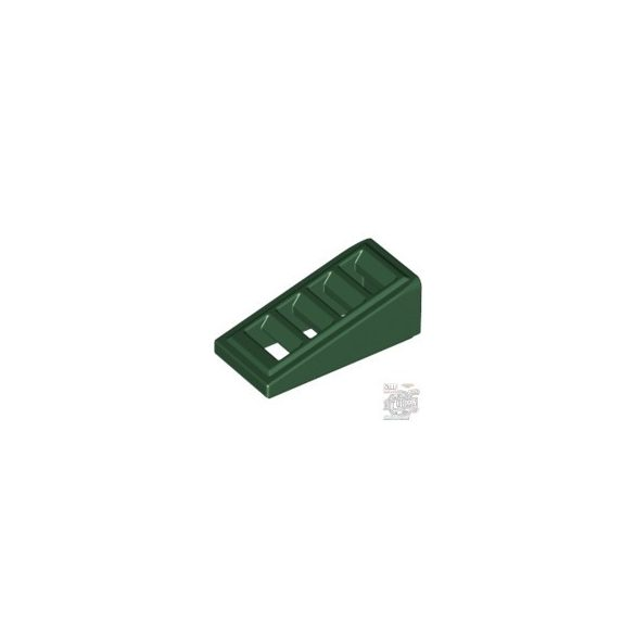 Lego ROOF TILE W. LATTICE 1x2x2/3, Earth green