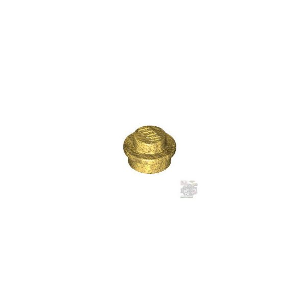 Lego PLATE 1X1 ROUND, Gold