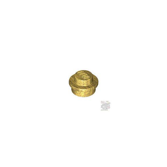 Lego PLATE 1X1 ROUND, Metallic gold