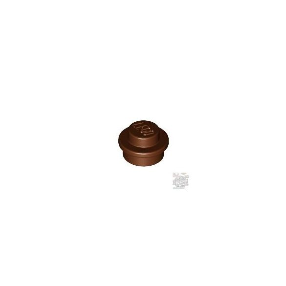 Lego ROUND PLATE 1X1, Reddish brown