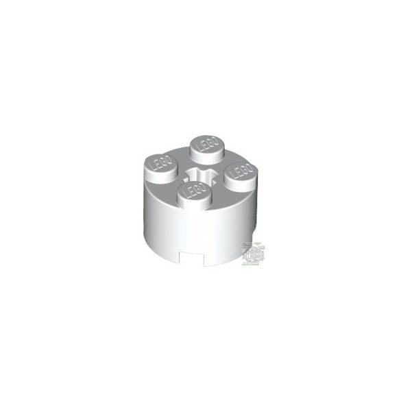 Lego BRICK Ø16 W. CROSS, White