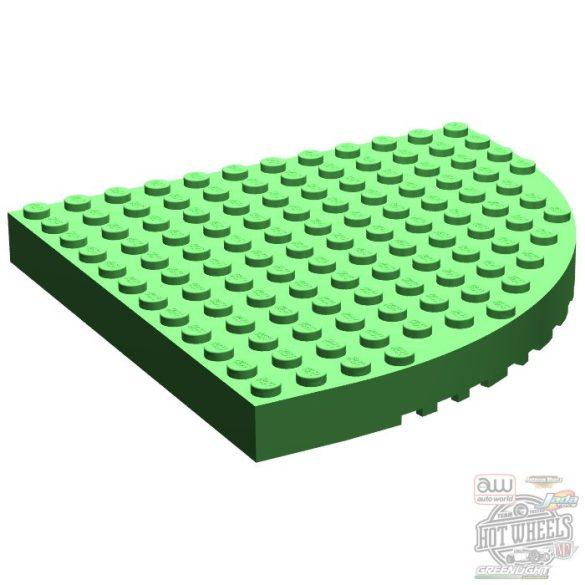 Lego Brick 12X12 W. Outs. Bow, Medium green