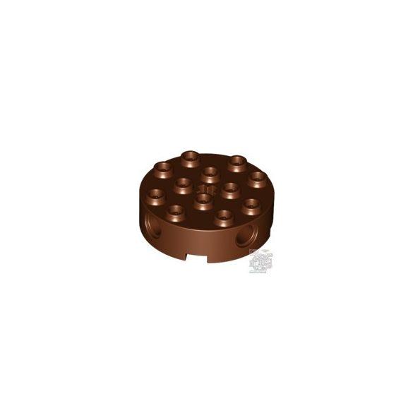 Lego TECHNIC BRICK 4X4 ROUND, Reddish brown