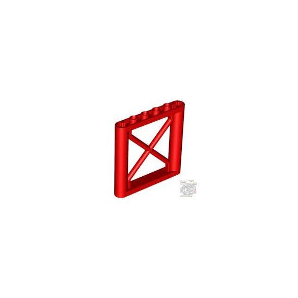 Lego LATTICE WALL 1X6X5, Bright red
