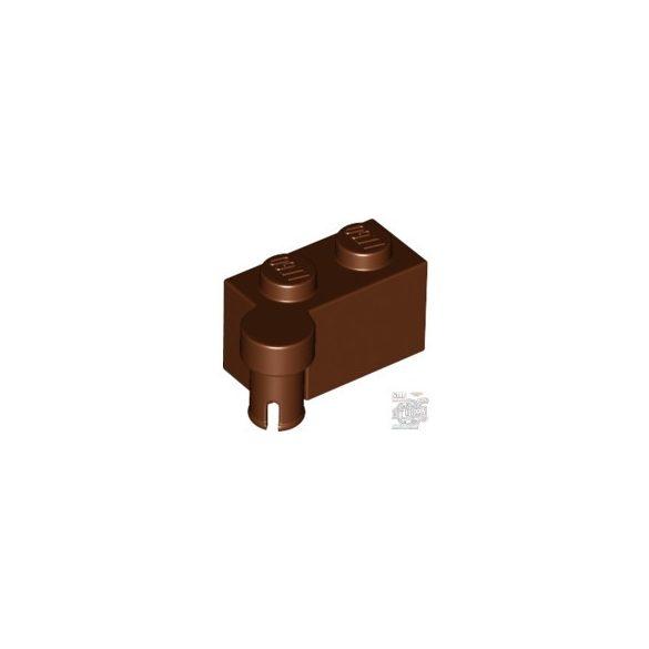 Lego HINGE 1X2 UPPER PART, Reddish brown
