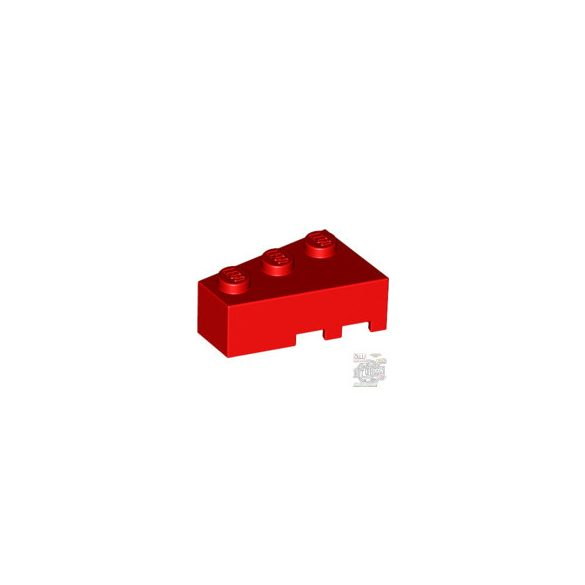 Lego LEFT ROOF TILE 2X3, Bright red