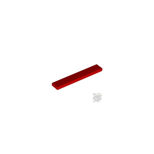 Lego Flat Tile 1X6, Bright red