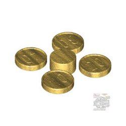 Lego GOLD COIN (4 PIECES 10-20-30-40), Metallic Gold