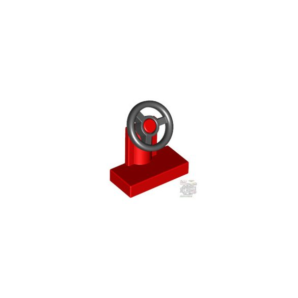 Lego CONSOLE W WHEEL RED/BLAC, Bright red