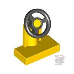 Lego CONSOLE W/ST WHEEL YE/BL, Bright yellow