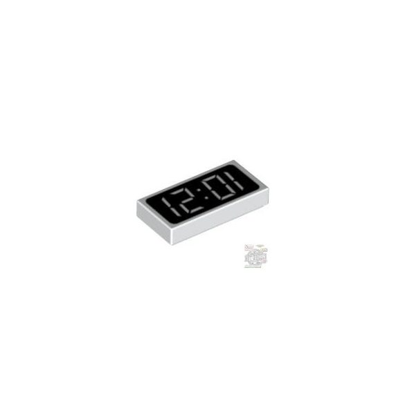 Lego FLAT TILE 1X2 DEC.DISPL., White