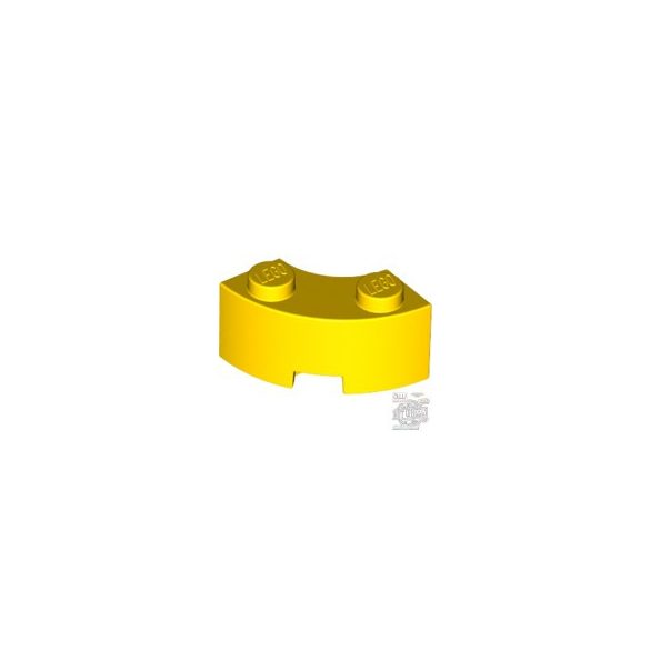 Lego BRICK 2X2W.INSIDE AND OUTS.BOW, Bright yellow