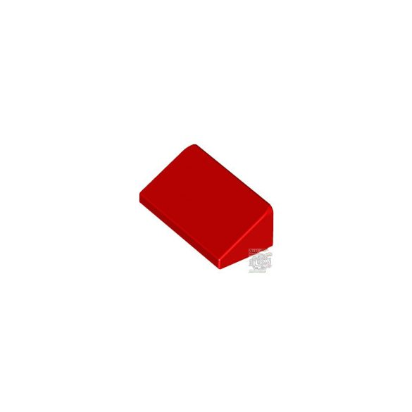 Lego ROOF TILE 1 X 2 X 2/3, ABS, Bright red